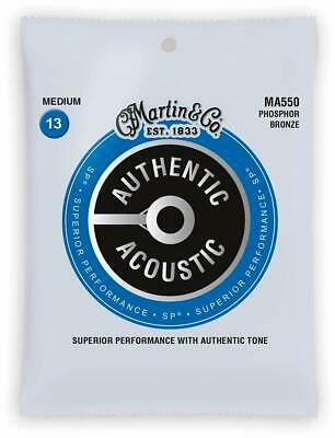 Martin MA550 Acoustic Guitar Strings Medium 13-56 SP Phosphor Bronze
