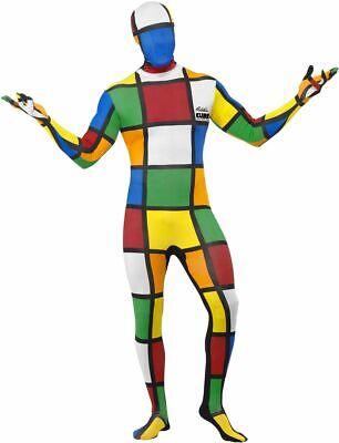 NEW Rubik's Cube Second Skin Full Body Lycra Tight Halloween Fancy Dress Costume - Skin Tight Halloween Costumes