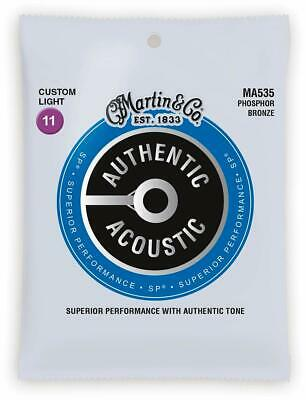 Martin MA535 Acoustic Guitar Strings Custom Light 11-52 SP Phosphor Bronze