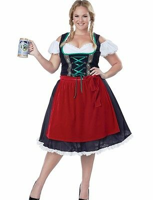 Sexy Tavern Beer Wench Costume Deluxe Oktoberfest Fraulein -Plus Size XL 2XL 3XL - Beer Wench Costume Plus Size