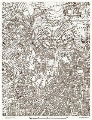 Finsbury, Highbury, Canonbury - Old, Map 1888 Gtr London #10