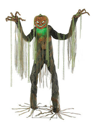 Halloween Animated ROOT OF EVIL TERRIFYING SCARECROW 7' Prop Haunted House - Scarecrow Prop