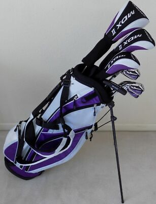 NEW Ladies Left Handed Complete Golf Set Driver, Wood, Hybrid, Irons, Putter