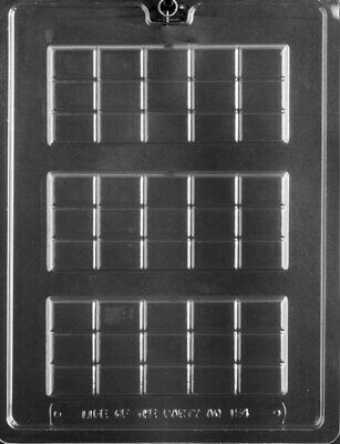 AO154 3-Up Break Apart Bar Chocolate Candy Mold