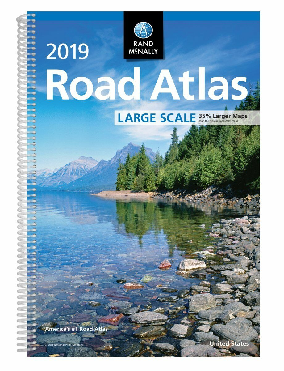 Купить 2019 Rand McNally Large Scale Road Atlas USA (Spiral-bound, 2018)