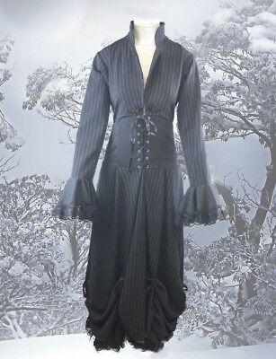 Gothic Neo Victorian Nadelstreifen Kleid Gr. 38 kl. 40  (Nadelstreifen Damen Kostüme)