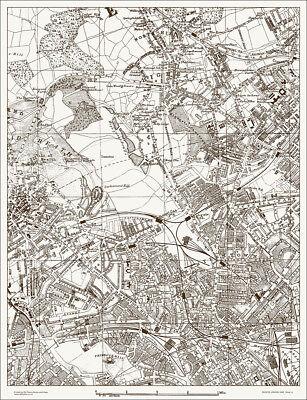 Highgate, Kentish Town, Camden Map 1888 Gtr London #9