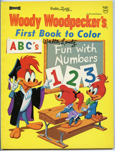 WOODY WOODPECKER First Book Color SIGNED LANTZ ANDY PANDA CEL DRAWING BOOK 1973
