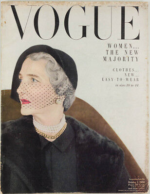 HORST New women majority ~ VOGUE incorporating VANITY FAIR magazine October 1950