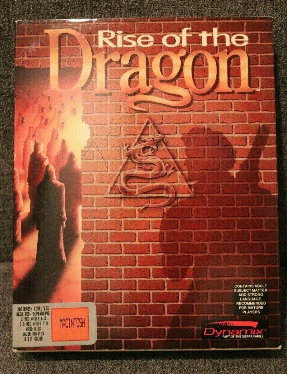 Computer Games - Rare Vintage Rise of the Dragon MACINTOSH Computer Game Big Box