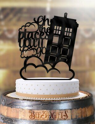 Oh the Places You'll Go Tardis Cake Topper - Oh The Places You Ll Go Cake