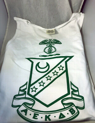 Kappa Sigma Fraternity Tank Top-White- Size Medium-New!