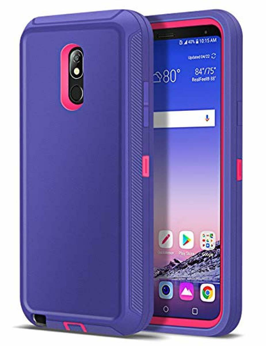 LG Q Stylus Black LG Stylo 4 Case,LG Q Stylus Case,Hybrid Defender Armor Case,Dual Layer Protective Cover Phone Case,Full Body Rugged Case,Non-slip Drop Protection Shock Proof Case for LG Stylo 4