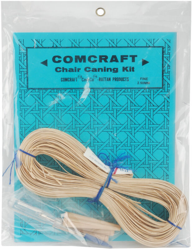 Comcraft Chair Caning Kit-Fine 2.5mm Cane seats with 3/16in holes 5/8in apart