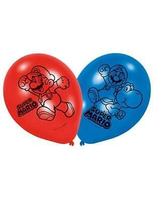 amscan Super Mario™ Party Luftballons, 6 Stück