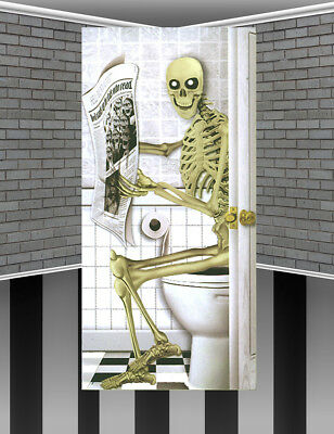 Halloween Toilet Loo Door Banner Poster Party Decoration Halloween Party Ideas](Door Decoration Ideas)
