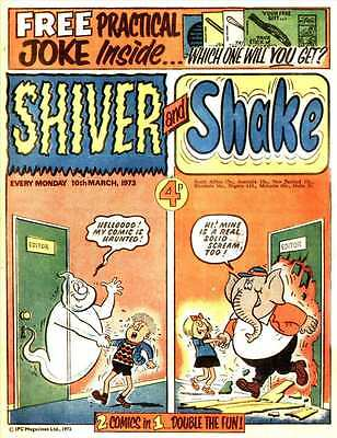 CLASSIC UK COMICS/- KNOCKOUT / SHIVER AND SHAKE