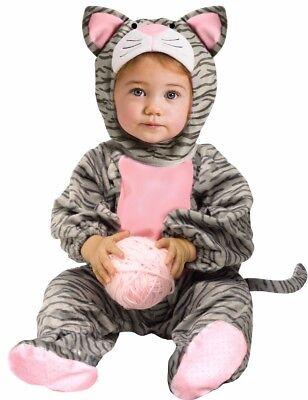 Lil Striped Kitten Infant Toddler Plush Little Kitty Cat Costume - 6-12M, 12-24M - Kitten Costume Toddler