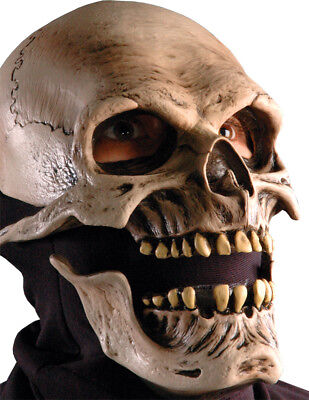 Morris Costume Men's Realistic Skull Full Over Head Latex Mask One Size. 6002MBS (Realistic Halloween Costumes For Men)
