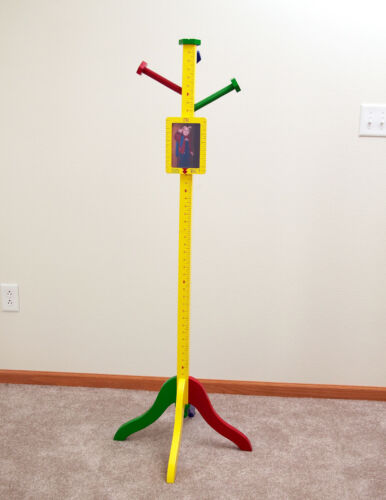 Great Levels of Discovery Builder Buddy Clothes Stand Growth Chart USA NEW