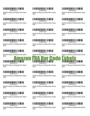 Fulfilled By Amazon Fba Blank Bar Code Labels Print Your Own Merchant Barcode