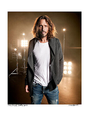 Chris Cornell / Original Signed Fine Art Print / Soundgarden 2012