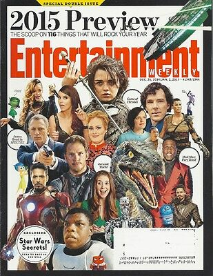 2015 Preview Entertainment Weekly Jan 2015 Star Wars Mad Max Jurassic World