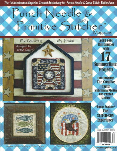 """{PUNCH NEEDLE & PRIMITIVE STITCHER MAG. -""""SUMMER 2020 ISSUE"""" (> 1 issue contact)"""
