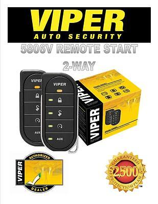 VIPER CAR ALARM REMOTE START 5806V BRAND NEW 2 WAY DIRECTED DEI