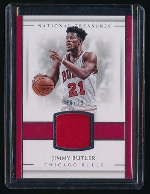 Jimmy Butler 2016 17 National Treasures Material Jersey 86 99  Chicago Bulls