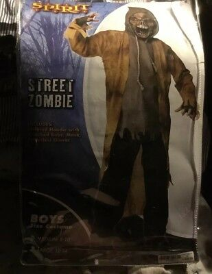 Spirit Street Zombie Boys Size Medium 8-10 Halloween Costume - Street Zombie Costume