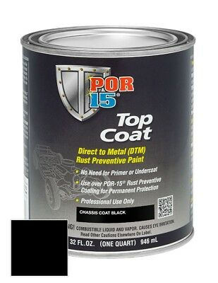 Por 15 45904 Top Coat Chassis Black  Quart