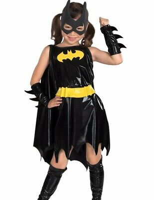 Batgirl Costume Dress Girls Childs Kids Bat Girl Hero - S 4-6, M 8-10, L 12-14 (Girls Bat Girl Costume)