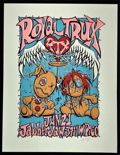 Beck POSTER Royal Trux Jabberjaw 1994 Signed Silkscreen Pablo POG Artist Proof