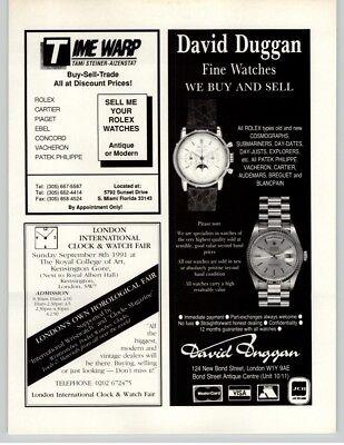 Patek Philippe - Rolex - Watch Stores 1991 Print Ad