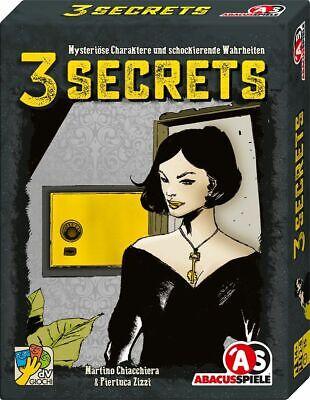 Abacus Spiele 3 Secrets Kartenspiel Mysteriös Wahrheiten Gesellschaftsspiel NEU ()