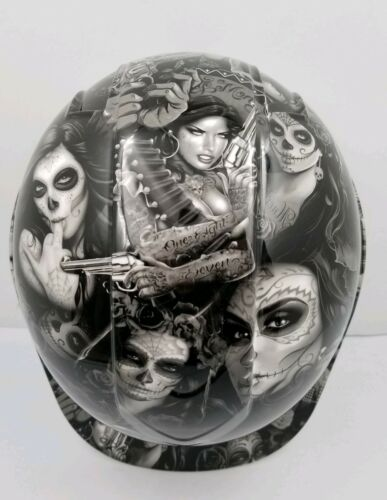Hard Hat custom hydro dipped , OSHA approved TATTOO BABES NEW SUPER SICK 3
