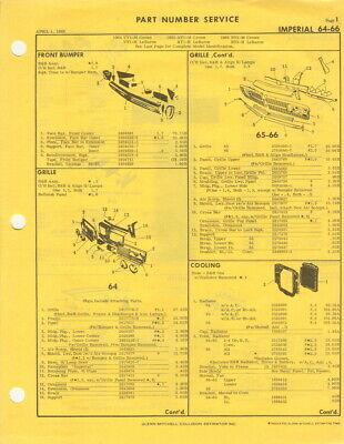 1964-1965-1966 Chrysler Imperial Crown LeBaron Mitchell parts manual 413 Mopar
