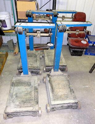 4 Fairbanks Morse Portable Platform Scales Capacity 1000 Lbs Race Car Balancing