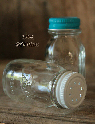 Vintage Miniature Ball Mason Jar Salt & Pepper shakers