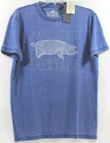 Lucky Brand Pink Floyd Animals Pig Federal Blue T-Shirt Choose Size
