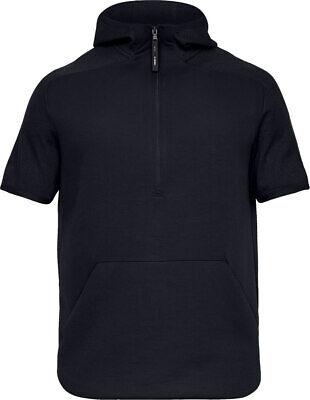 Under Armour Men's UA Move Light ½ Zip Short Sleeve Hoodie - Black - Large Short Sleeve Zip Hoodie