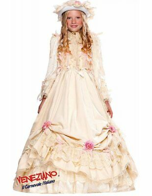 Deluxe Velvet Ivory Southern Belle Ball Gown Costume Victorian Child Girls MD - Southern Belle Girl Costume