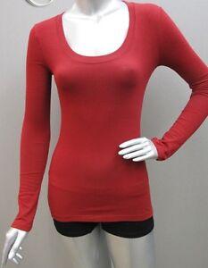 Women 039 s sexy deep scoop neck long sleeve stretch for Deep scoop neck t shirt