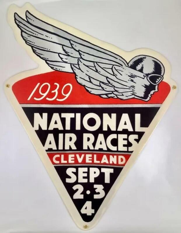 Reproduction 1939 National Air Races Metal Sign, Vintage Aviation OUR-0104