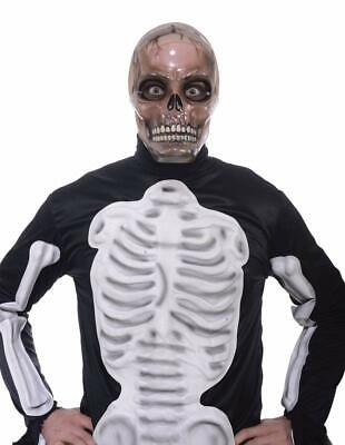 Transparent Halloween Mask (Skull Transparent Mask Skeleton Clear Fancy Dress Halloween Costume)