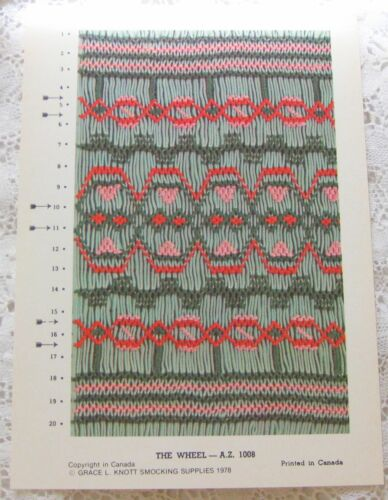 ~ GRACE KNOTT THE WHEEL HEIRLOOM SEWING SMOCKING DESIGN PLATE LAST ONE ~