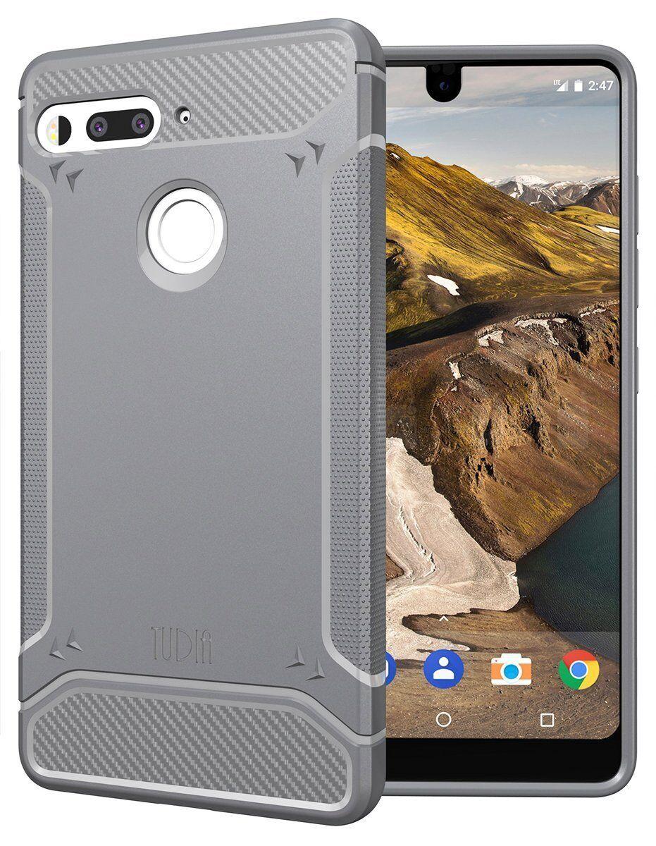 TUDIA TAMM Ultra Slim Carbon Fiber TPU Skin Cover Case for Essential Phone
