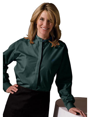 Edwards Garment Women's Long Sleeve Broadcloth Banded Collar Shirt XXS-3XL. 5396 Banded Collar Broadcloth Shirt