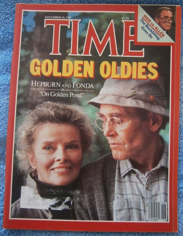 "TIME - November 16, 1981 - Katharine Hepburn and Henry Fonda in ""On Golden Pond"""